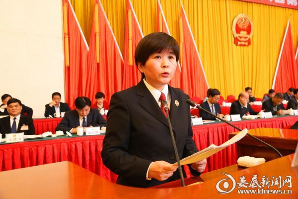 李芳芳作检察院工作报告