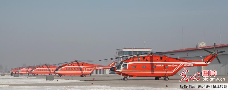 武警森林直升机支队年度首飞