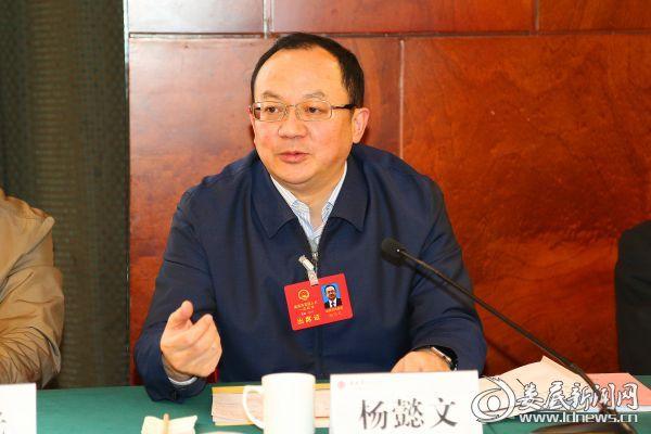 杨懿文在双峰代表团讲话
