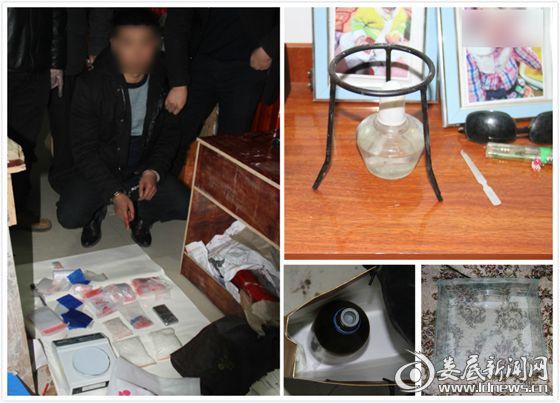 犯罪嫌疑人甘某指认毒品及制毒工具
