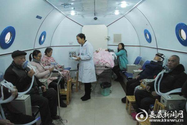 先进舒适的高压氧舱治疗室