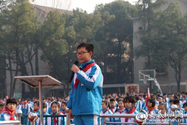 5、学生代表刘陆羽同学发言