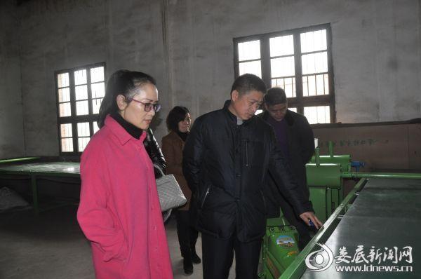 20170215邵瑛(左)陪外商看农机