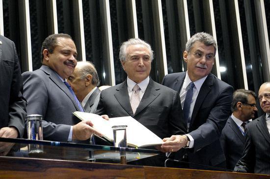 2016年8月31日特梅尔就任巴西总统