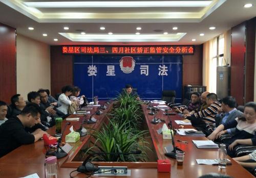 娄星区司法局召开三、四月份全区社区安全监管分析会