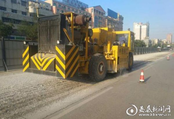 施工中的娄底市中心城区路网完善工程