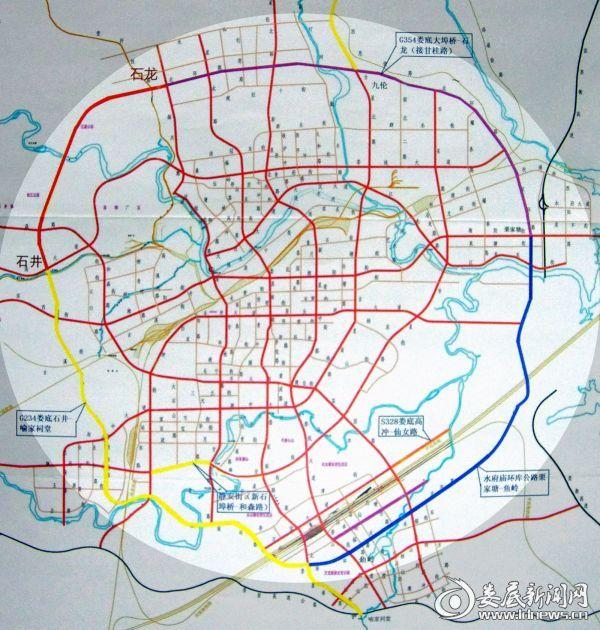 娄底市城区外环线规划示意图