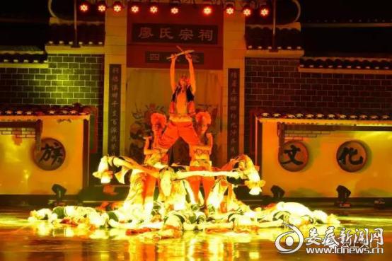 天门乡原生态民俗歌舞实景剧《夜画瑶峒》表演