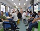 涟源市市政工程管理局干部职工踊跃参加无偿献血