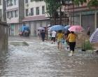 """组图:暴雨袭击娄底 城区开启""""看海""""模式"""