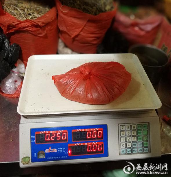 民警缴获的罂粟粉