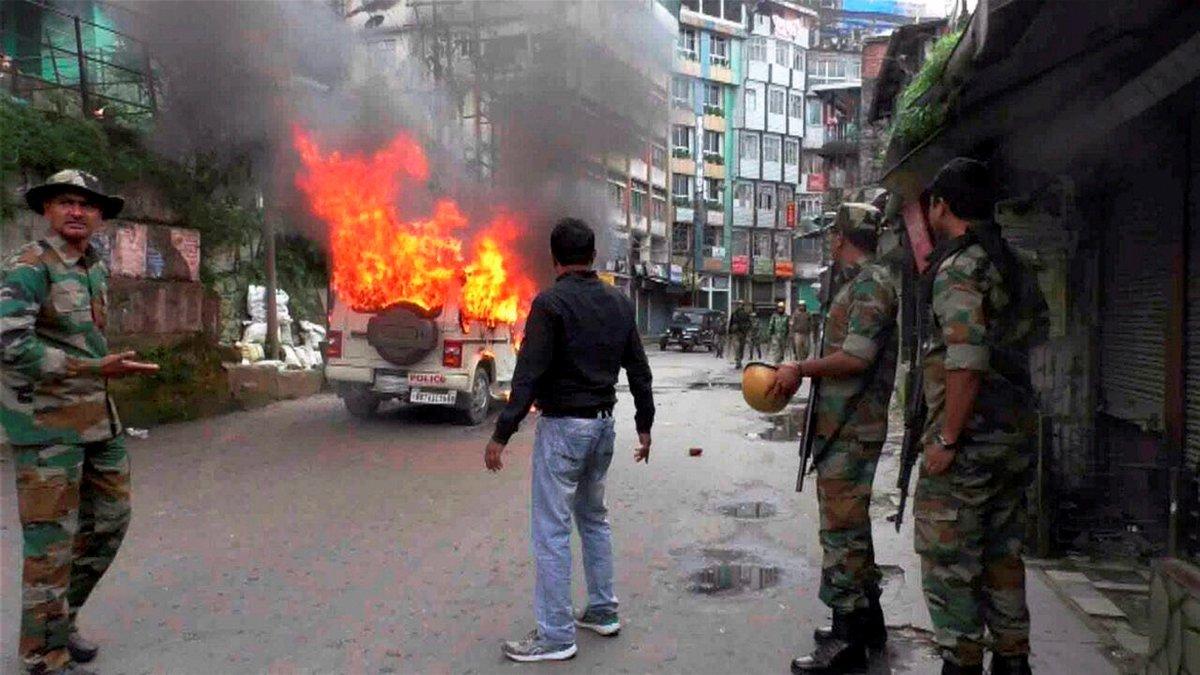印度大吉岭40天骚乱持续 独立组织向政府发最后通牒
