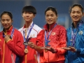 女子4x100米、4x400米接力再夺冠 黄瑰芬斩获全运会三金