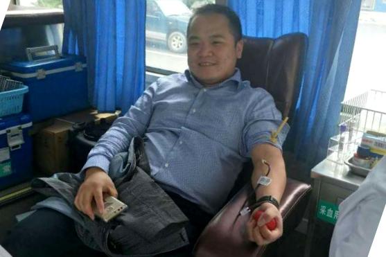 茅塘镇组织开展无偿献血活动
