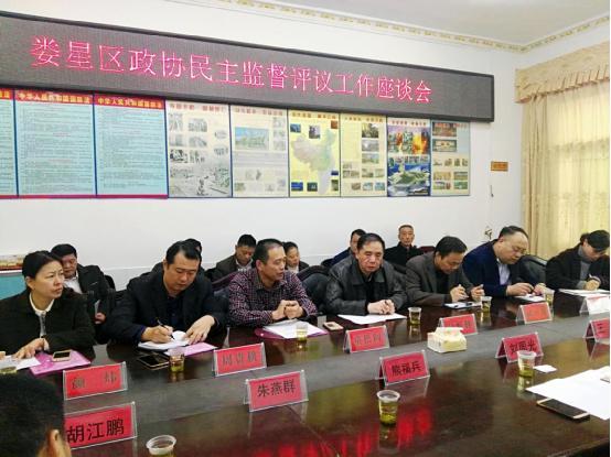 娄星区政协到蛇形山镇召开2017年民主监督评议工作座谈会