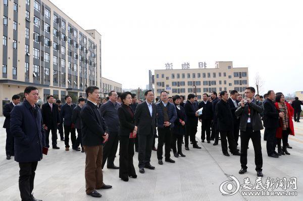 图一,永州市党政代表团首先来到娄底经开区,考察了新合作湘中国际物流园多式联运中心项目