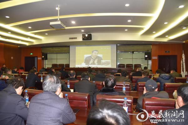 (1月25日,冷水江市组织收看收听全国全省安全生产电视电话会议)