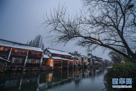 """(美丽中国)(7)江南水乡变身""""冬日雪乡"""""""