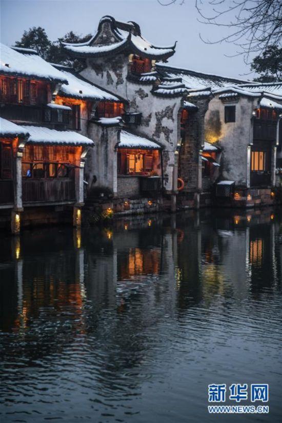 """(美丽中国)(6)江南水乡变身""""冬日雪乡"""""""