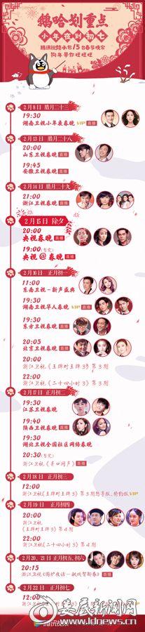 腾讯视频春节安排表