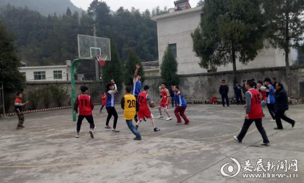 运动会上的篮球比赛