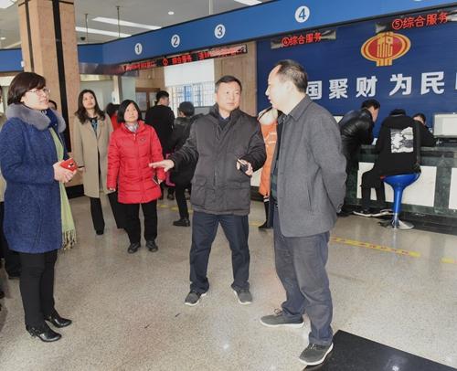 省地税局领导到娄星区地税局慰问基层税干