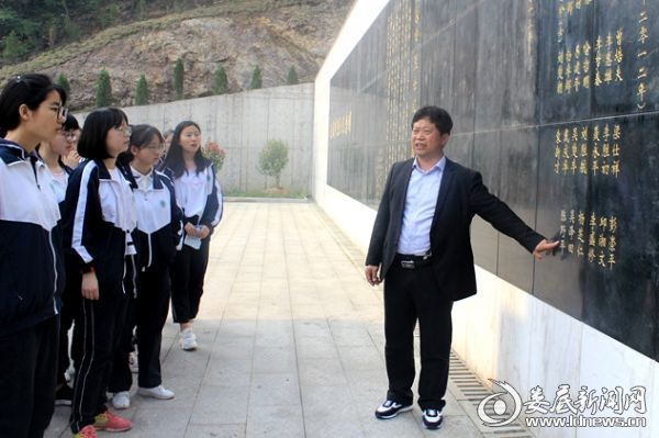吴梦周校长介绍校友烈士陈野平的英雄事迹_副本
