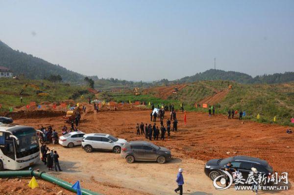 游家工业园基础设施建设第一期工地现场