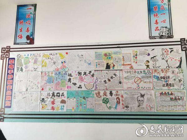 荷叶镇宝龙学校墙报