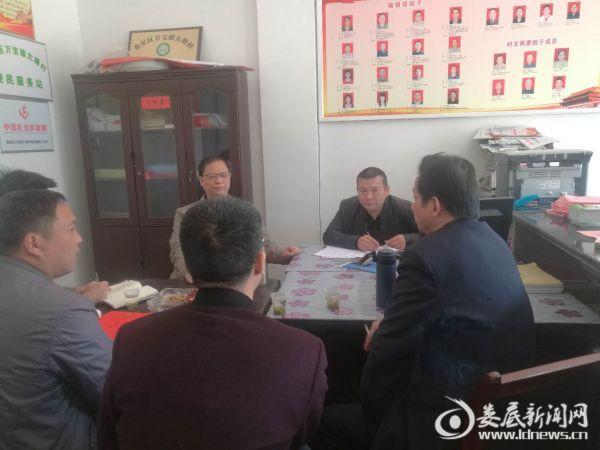 镇安委会在大塘村督导工作