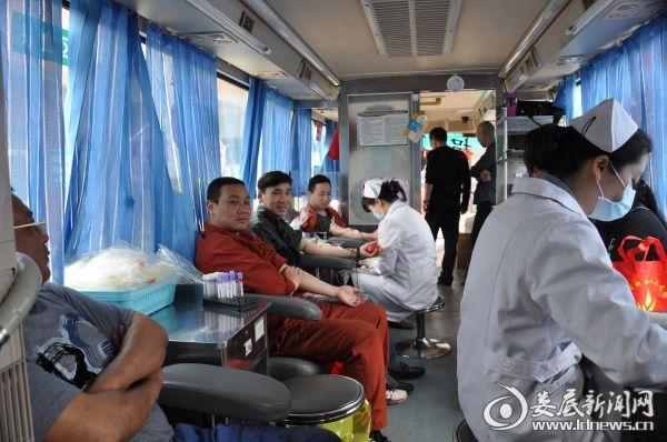 (献血活动现场)