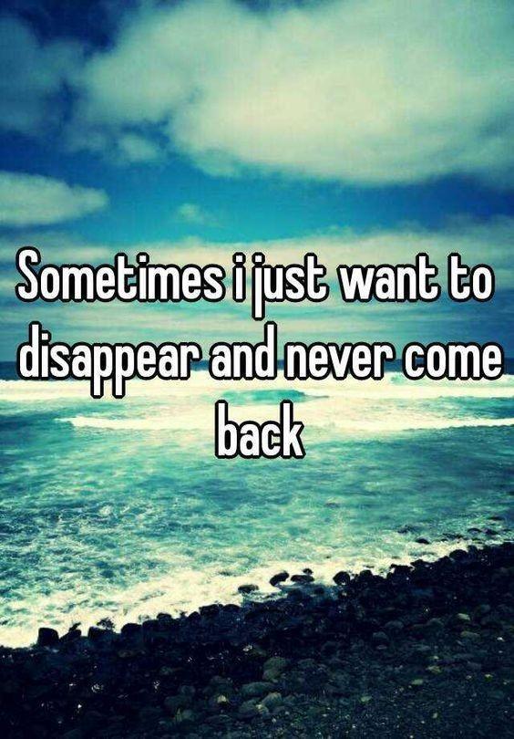 有时候,我想消失,并且再也不回来