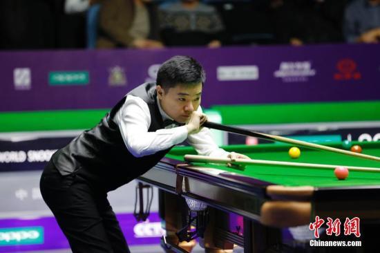 资料图:丁俊晖在比赛中。<a target='_blank' href='http://www.chinanews.com/'>中新社</a>记者 于琨 摄