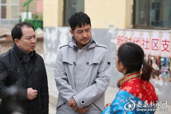 公益大使郭晓东、孙坚走访村民