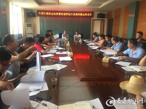 斗笠山镇就业扶贫暨贫困劳动力信息采集业务培训会议