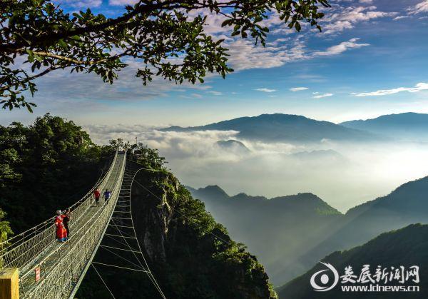 三联峒-湘中第一镂空铁索桥
