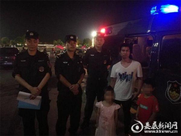 特警勤务大队连续帮助两名走失小孩找到家人2_副本