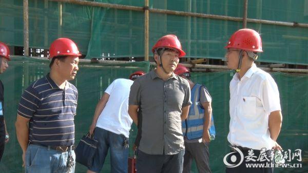 青树坪镇党委书记李国庆向项目负责人了解情况