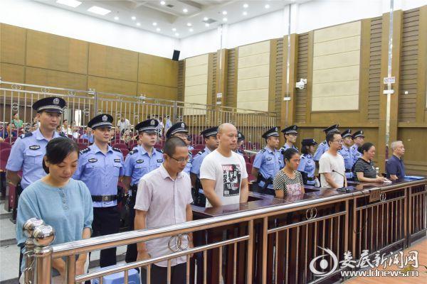 湖南鸿冠集团公司原董事长石江泳等7名被告人受审