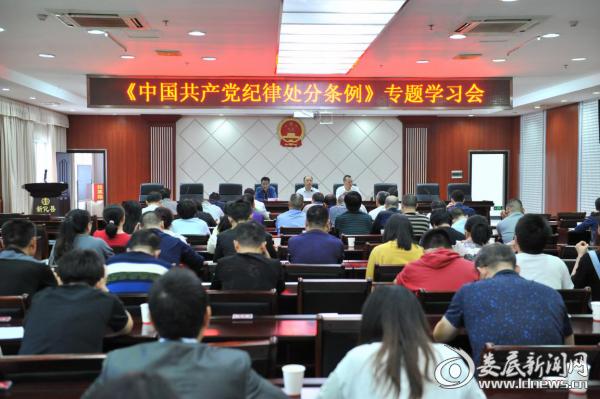 新化法院集体学习《中国共产党纪律处分条例》