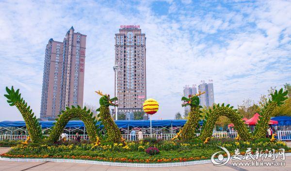 """孙水公园展区""""双龙戏珠""""扎景 - 复件(1)"""