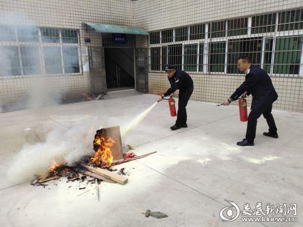 图为消防演练现场1