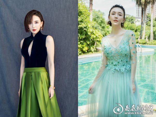 4.吕佳容绿色半身裙性感而不失优雅