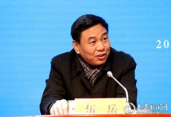 文化旅游发展投资有限责任公司董事长伍岳回答记者提问
