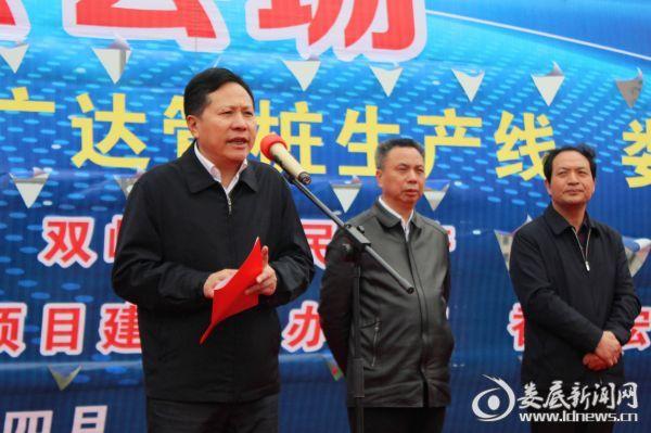 (市人大常委会党组书记、副主任谢志雄出席双峰县重点产业项目集中开工仪式并宣布五个重大项目集中开工)
