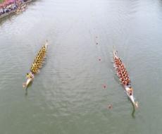 双峰首届龙舟文化节在湄水永丰河段举行