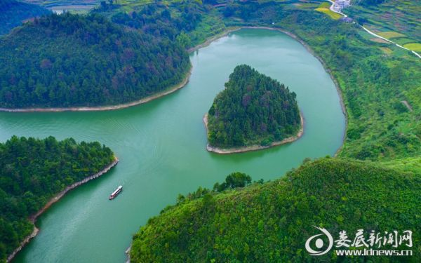 涟源湄江湄峰湖