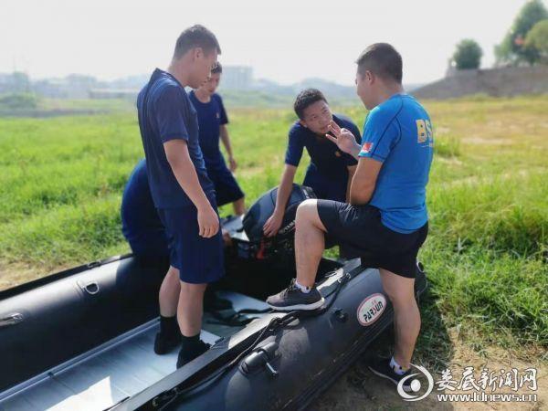 20190812湖南双峰消防大队与蓝天救援队联合开展水域救援训练2
