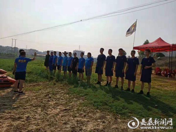 20190812湖南双峰消防大队与蓝天救援队联合开展水域救援训练1