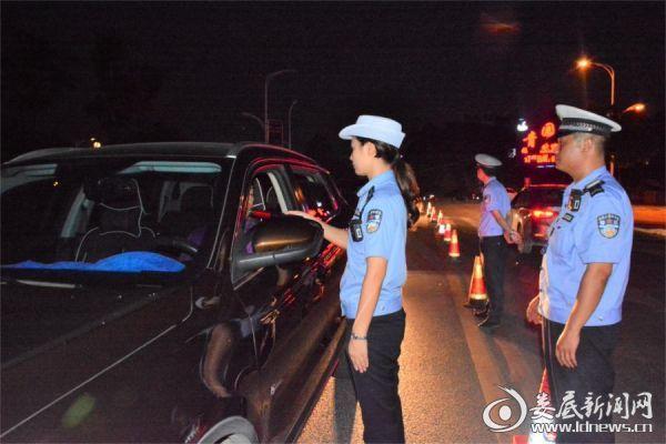 冷水江市公安局交警大队连续两天查处酒驾14起
